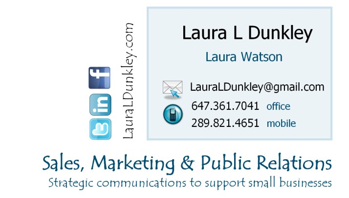 Laura L Dunkley Business Card